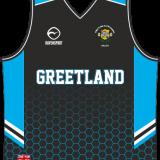 Greetland Girls Junior Basketball Vest Black