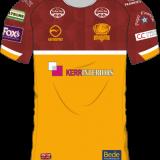 Batley Bulldogs Leisure Shirt – Maroon/Amber