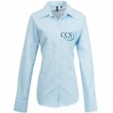 CCS Media Ladies Long Sleeve Oxford Shirt