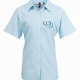 CCS Media Ladies Short Sleeve Oxford Shirt
